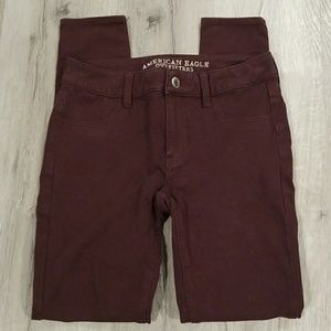 american eagle burgundy red jegging 2